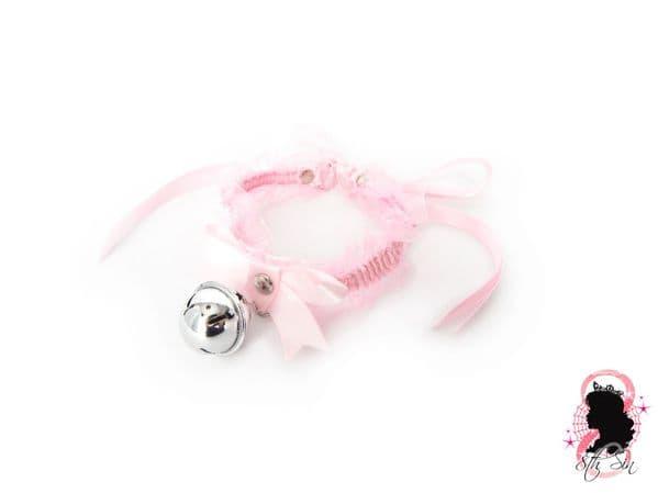 Pink Ruffled Bell 2-in-1 Choker/Garter